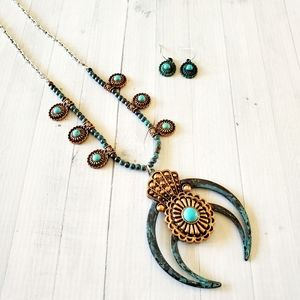 Southwestern Boho Squash Blossom Necklace #2